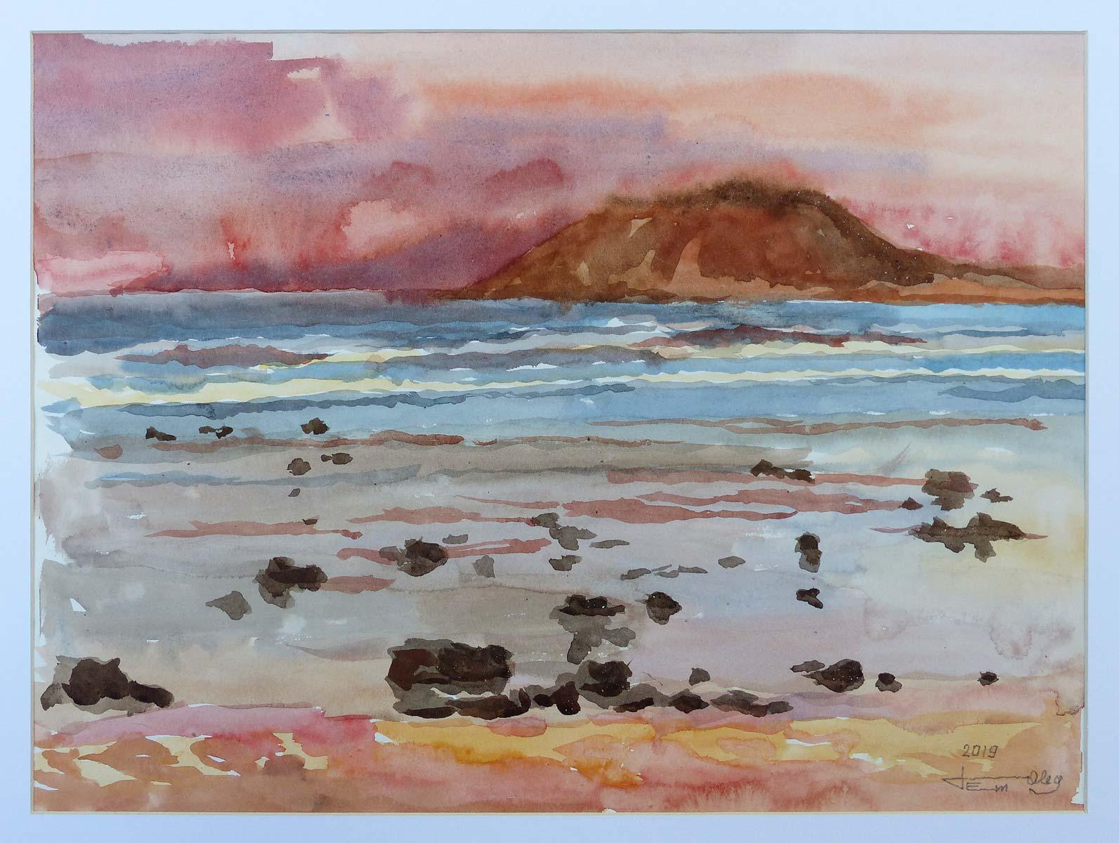 Oleg_Petounine_Fuerteventura_paysage_aquarelle_29x40cm_2019